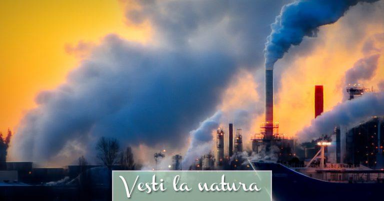 Industrie rilasciano GAS nell'aria