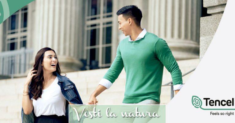Uomo e donna indossano abbigliamento in Tencel