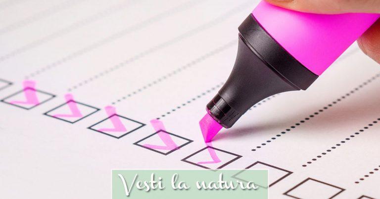 Sondaggio Università Bocconi - Checklist Vita Sostenibile