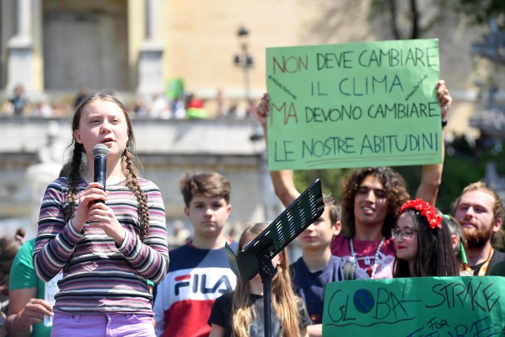 Greta Thunberg scende a Roma