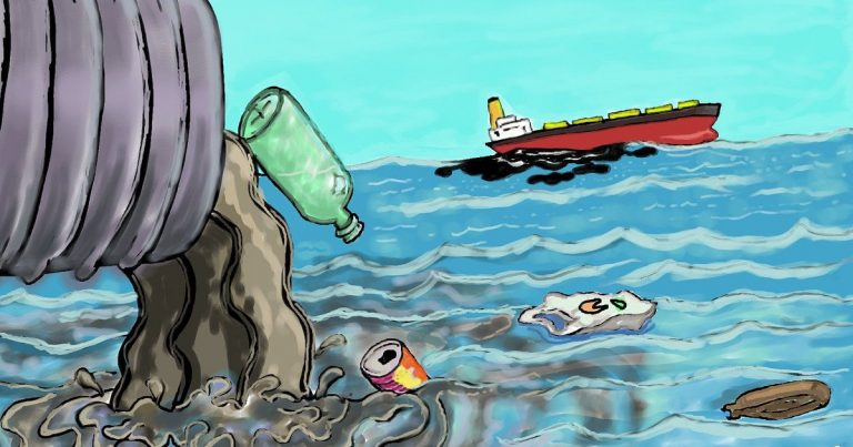 Water pollution caused by detergents